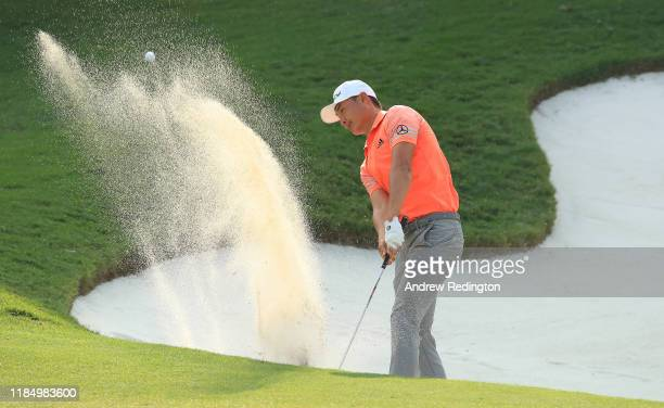 Haotong Li of China plays his fourth shot on the 15th hole during Day Three of the WGC HSBC Champions at Sheshan International Golf Club on November...
