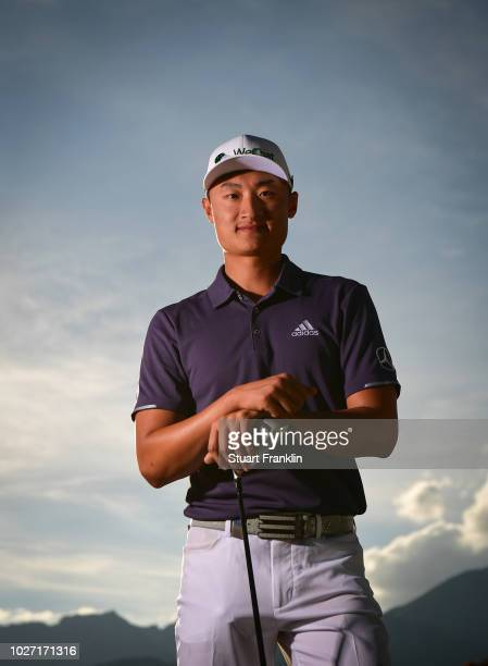 Haotong Li of China poses for a picture during the pro am prior to the start of the Omega European Masters at CranssurSierre Golf Club on September 5...