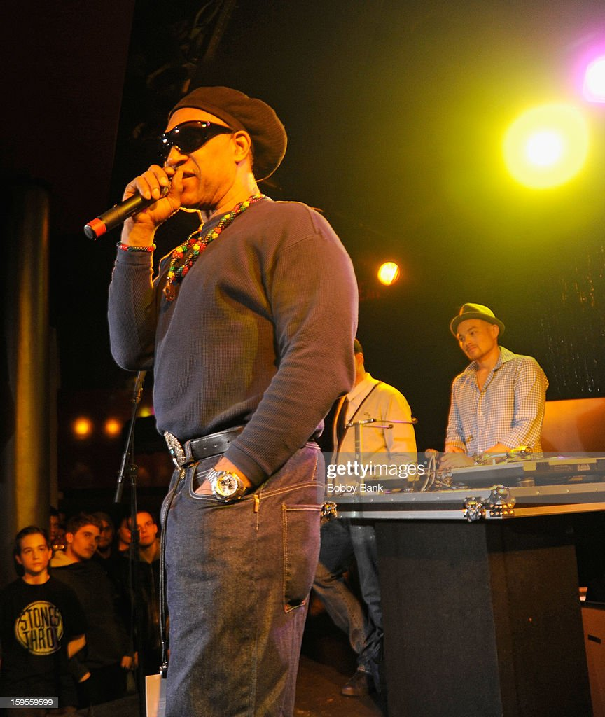 DJ Hapa and DJ Kool Herc attend the Scratch DJ Academy Semester 10th Anniversary at Canal Room on January 15, 2013 in New York City.