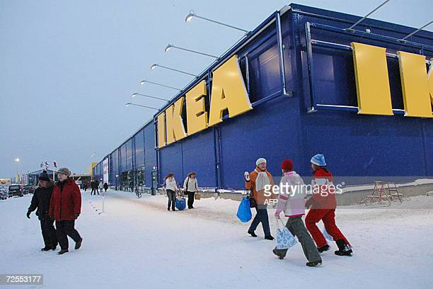 Visitors at the new IKEA furniture department store 15 November 2006 in Haparanda at the very northern Swedish boarder to Finland and Russia AFP...
