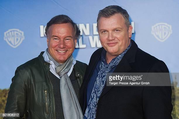 Hape Kerkeling and Nico Hofmann attend the 'Ich bin dann mal weg' premiere at CineStar on December 17 2015 in Berlin Germany