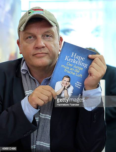 Hape Kerkeling attends the 2014 Frankfurt Book Fair on October 9 2014 in Frankfurt Germany The 2014 fair which is among the world's largest book...