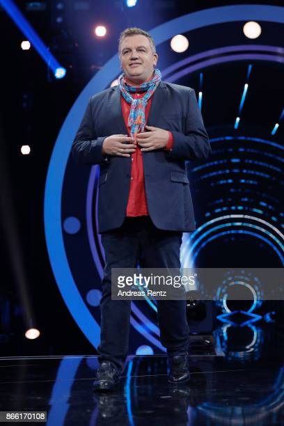 Hape Kerkeling performs on stage during the 21st Annual German Comedy Awards on October 24 2017 in Cologne Germany
