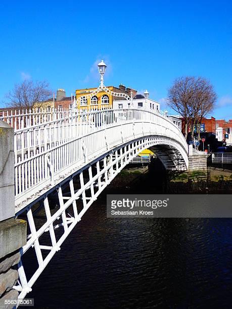 Ha'Penny Bridge, Lamppost, Dublin, Ireland