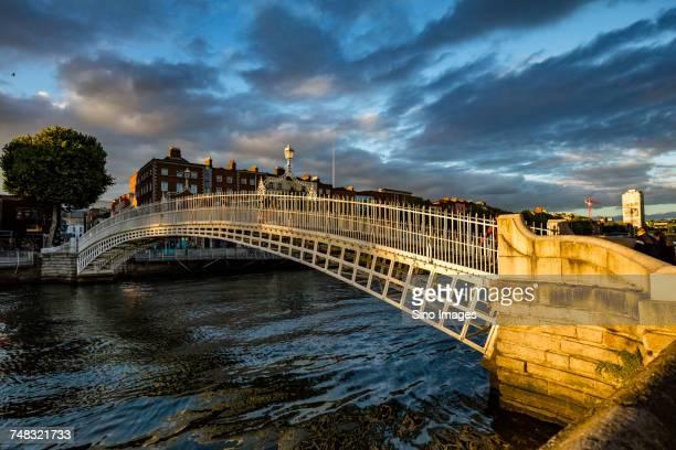 Hapenny Bridge over River Liffey, Dublin, Ireland