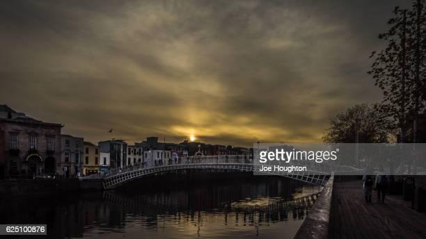 Ha'Penny Bridge Sunset, Dublin