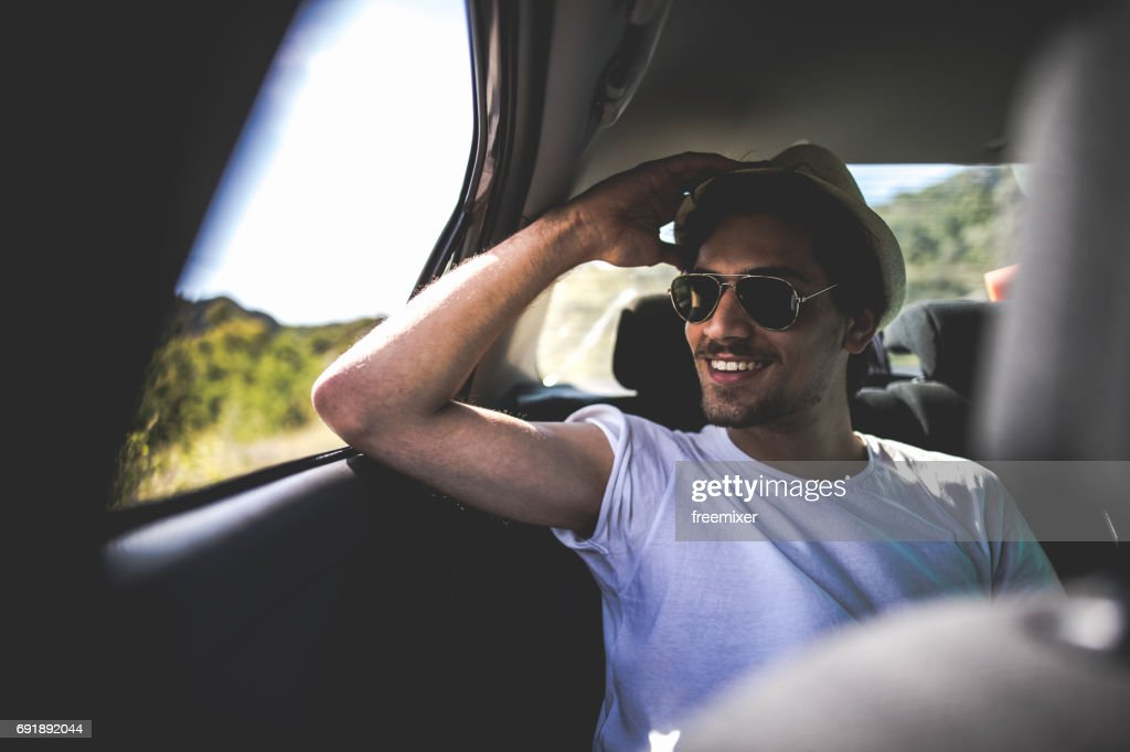Hapiness on the roadtrip : Stock Photo