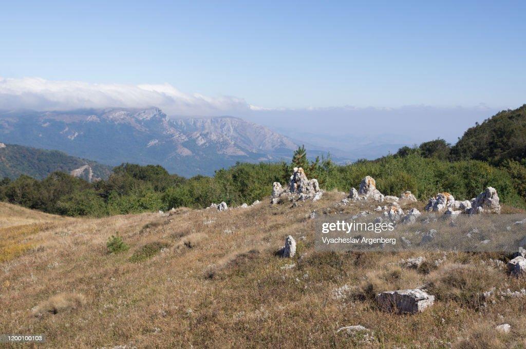 Hapkhal Canyon, Crimean Mountains : Stock Photo