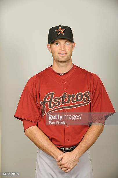 Happ of the Houston Astros poses during Photo Day on Tuesday February 28 2012 at Osceola County Stadium in Kissimmee Florida