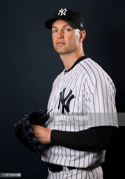 Happ of the New York Yankees poses for a portrait during the New York Yankees Photo Day on February 21 2019 at George M Steinbrenner Field in Tampa...