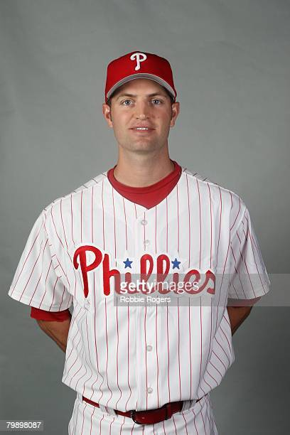 Happ of the Philadelphia Phillies poses for a portrait during photo day at Bright House Networks Field on February 21, 2008 in Clearwater, Florida.