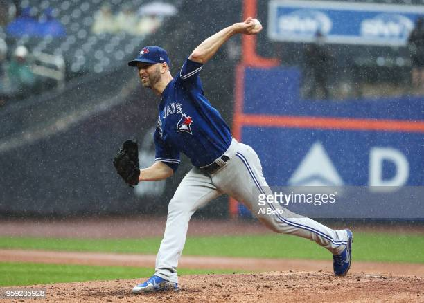 A Happ of the Toronto Blue Jays pitches against the New York Mets during their game at Citi Field on May 16 2018 in New York City