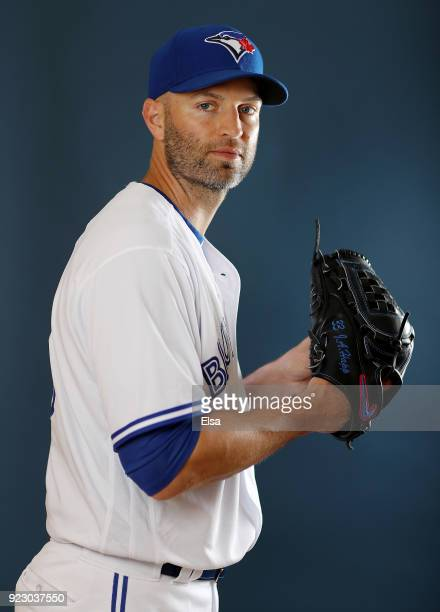 A Happ of the Toronto Blue Jays poses for a portrait on February 22 2018 at Dunedin Stadium in Dunedin Florida