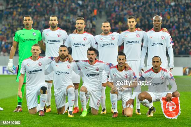 Happen Beer Sheva team during the UEFA Europa League 20172018 Group Stage Groupe G game between FCSB Bucharest and Hapoel BeerSheva FC at National...