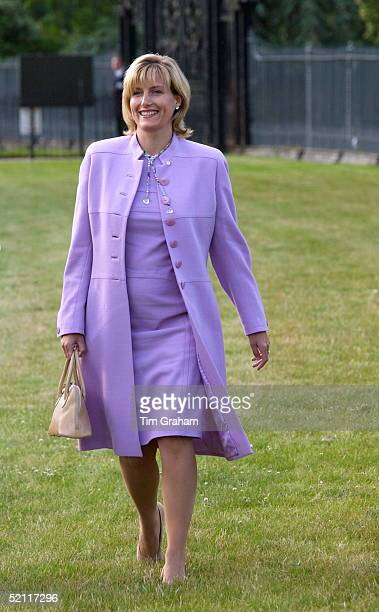 Happily Showing Signs Of Her Pregnancy Sophie Countess Of Wessex Enjoying An Early Evening Tour Of The Hampton Court Palace Flower Show Organised By...