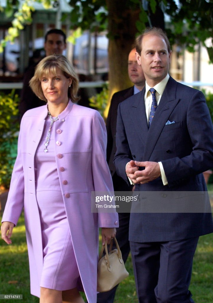 Happily Showing Signs Of Her Pregnancy Sophie, Countess Of Wessex, Joins Her Husband, Prince Edward, For An Early Evening Tour Of The Hampton Court Palace Flower Show Organised By The Royal Horticultural Society. It Is The Largest Annual Flower Show In The World Attracting Over 185,000 Visitors.