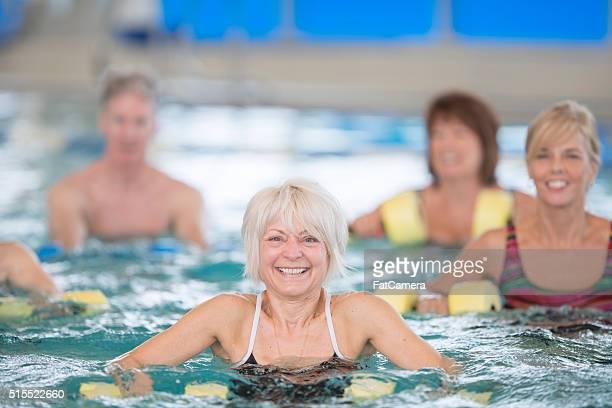 Gerne einen Wasser-Aerobic-Kurs