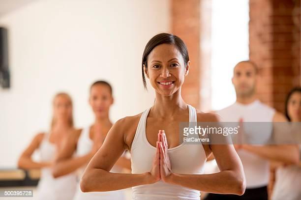 Happily Working on Yoga Practice