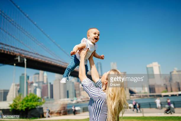 Happiness and joy for young family in USA