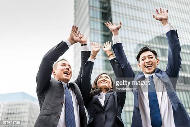 Glück Geschäftsleute in Japan