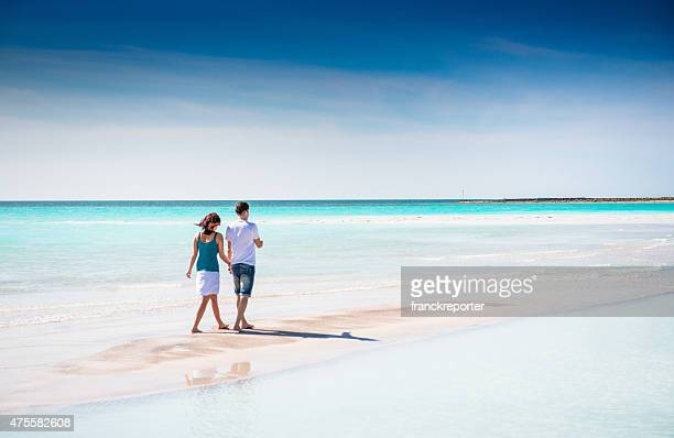 happiness couple at the seaside - seychelles stock pictures, royalty-free photos & images