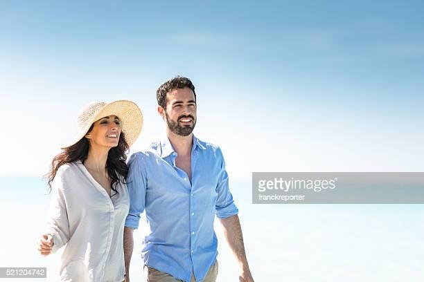 Glück Paar am Strand