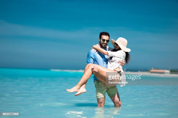 happiness couple enjoy the summer