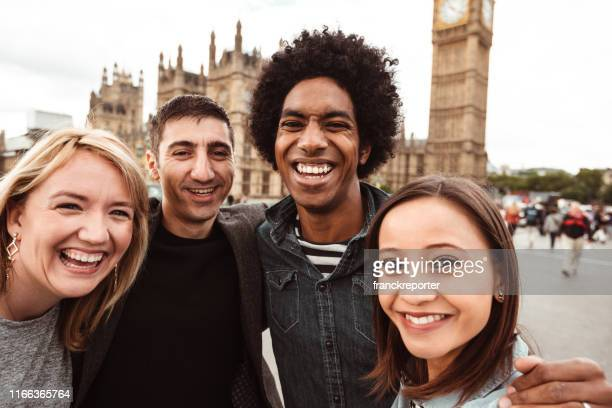 happiness friend in london have fun - big ben stock pictures, royalty-free photos & images