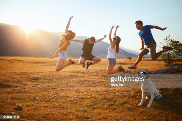 happiness in nature - saturday stock pictures, royalty-free photos & images