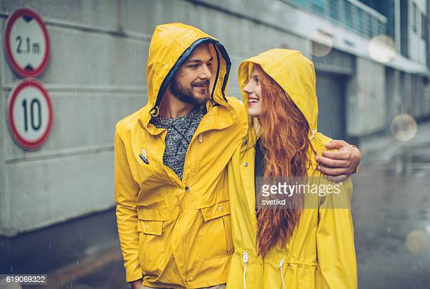 Happiness in the rain