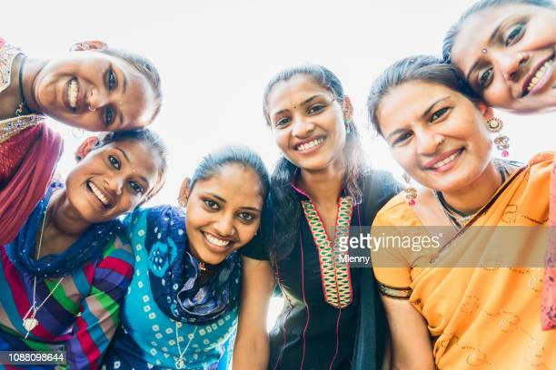 Happiness Indian Women Group Together India
