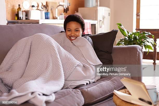 Le bonheur est une journée sur le canapé