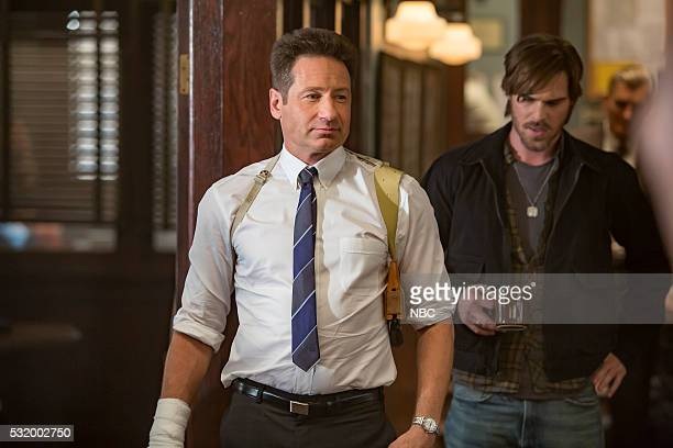 AQUARIUS Happiness is a Warm Gun Episode 202 Pictured David Duchovny as Sam Hodiak Grey Damon as Brian Shafe