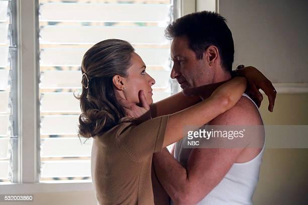 AQUARIUS 'Happiness is a Warm Gun' Episode 202 Pictured Michaela McManus as Grace Karn David Duchovny as Sam Hodiak