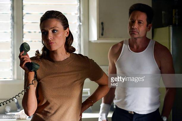 AQUARIUS Happiness is a Warm Gun Episode 202 Pictured Michaela McManus as Grace Karn David Duchovny as Sam Hodiak