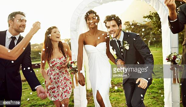happiness is being married to your best friend - wedding ceremony stock photos and pictures