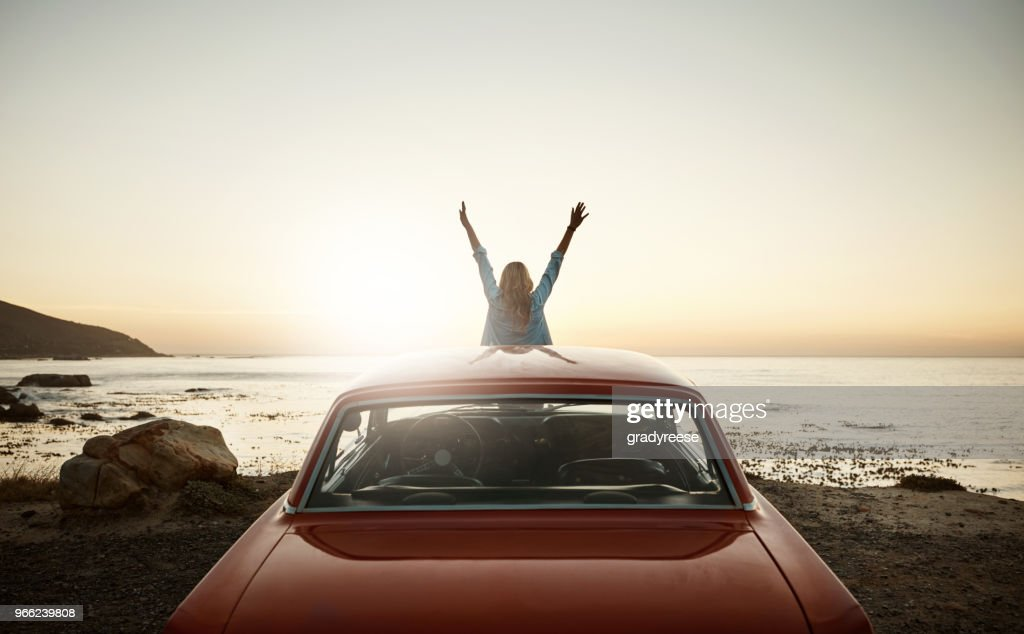 Happiness is reaching out eagerly for newer and richer experiences : Stock Photo