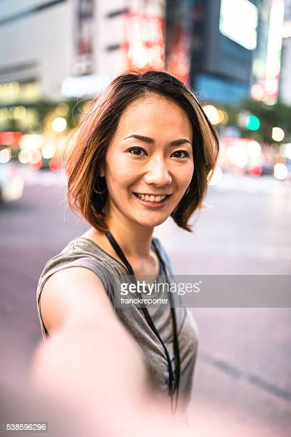 happiness japanese woman on the phone - self portrait stock pictures, royalty-free photos & images