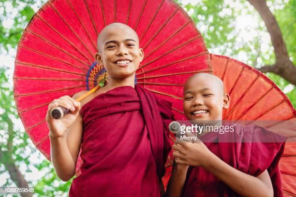 Happiness Novice Monks in Myanmar