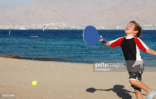 happiness on the beach - eilat stock pictures, royalty-free photos & images