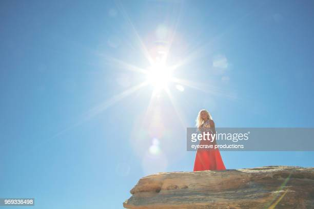 Happiness Outdoors - Early Summer Single Adult Blonde Female in Colorado Nature