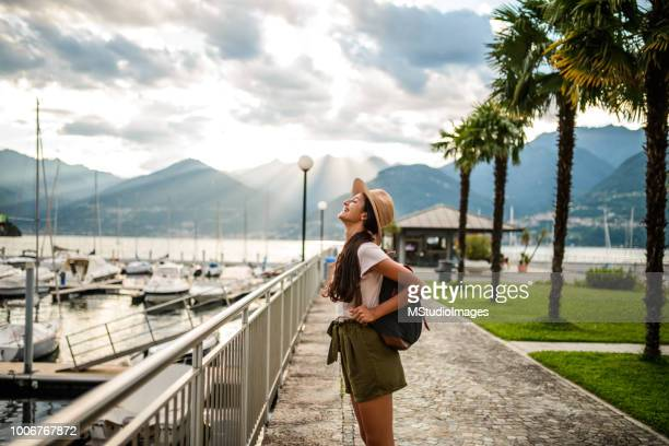 happiness. - hot women on boats stock pictures, royalty-free photos & images