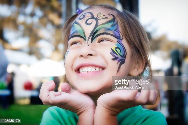 happiness - face paint stock pictures, royalty-free photos & images