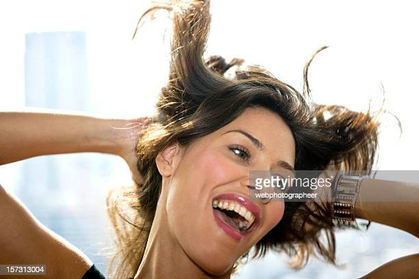 happiness - hair treatment stock pictures, royalty-free photos & images