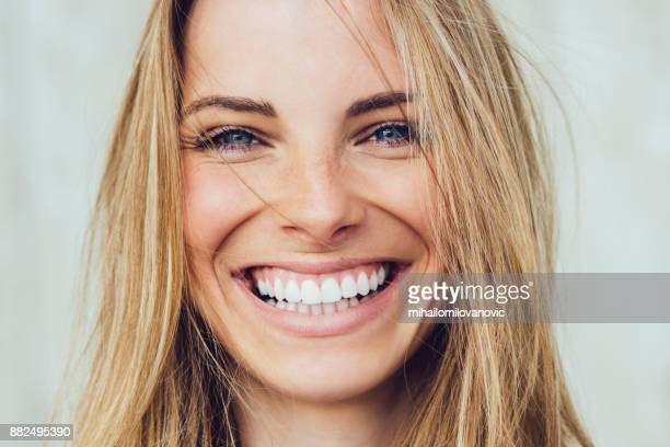 happiness! - toothy smile stock pictures, royalty-free photos & images