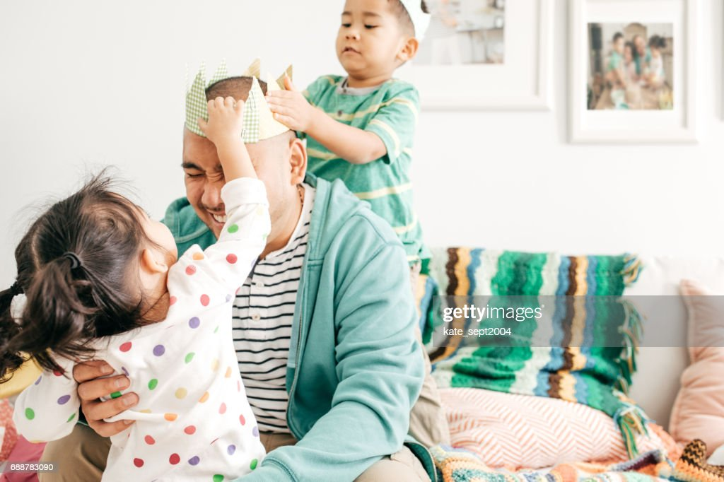 Happiness to be a father : Stock Photo