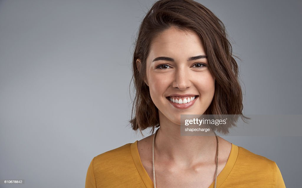 Happiness translates into beauty : Stock Photo