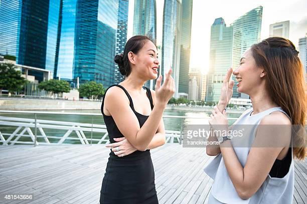 幸福女性笑顔でシンガポール