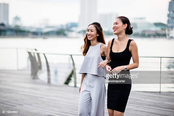 Happiness woman smiling in Singapore