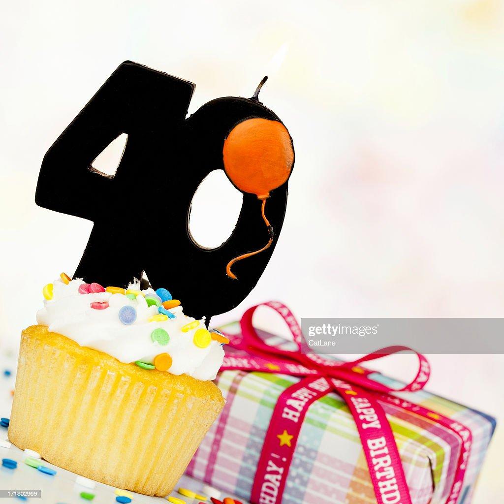 Happy 40th Birthday : Stock Photo